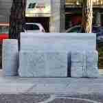 Author's seats in stone